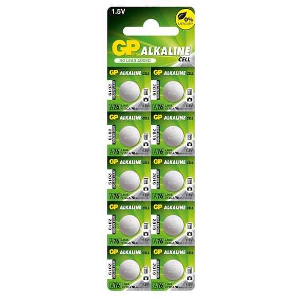 GP A76 LR44 Button Cell Batteries | 10 Pack