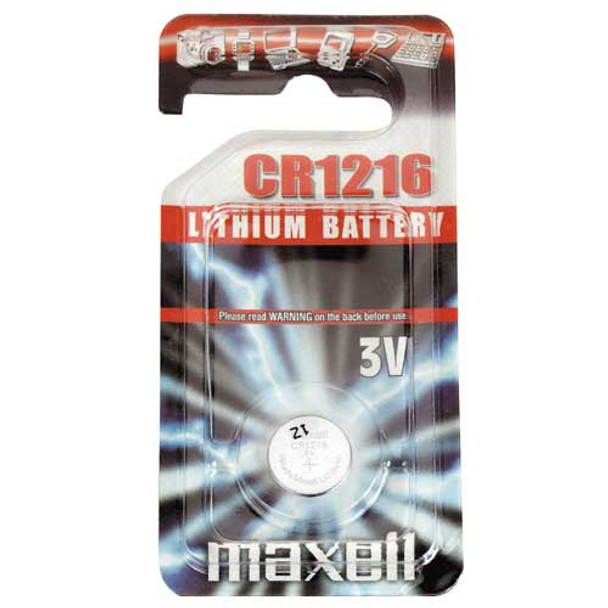 Maxell CR1216 Coin Cell Battery   1 Pack
