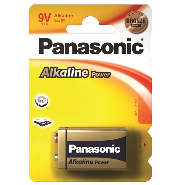 Panasonic Alkaline Power (Bronze) 9V PP3 6LR61 Battery | 1 Pack