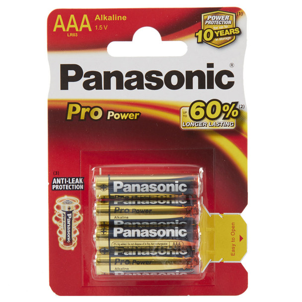 Panasonic Pro Power AAA LR03 Batteries | 4 Pack
