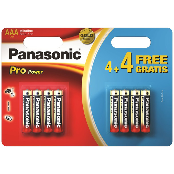 Panasonic Pro Power AAA LR03 Batteries | 8 Pack
