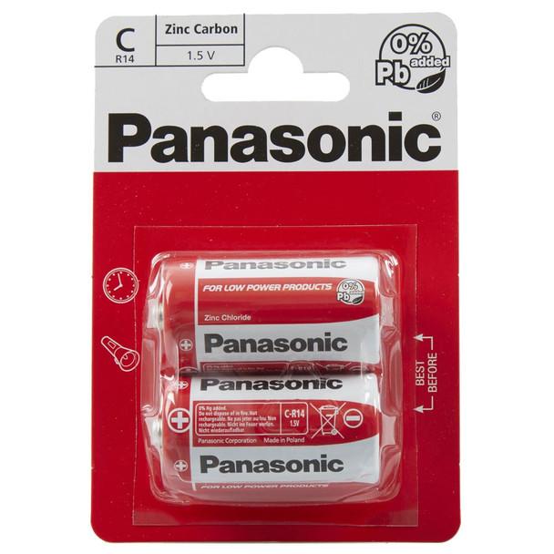 Panasonic Zinc C LR14 Batteries | 2 Pack