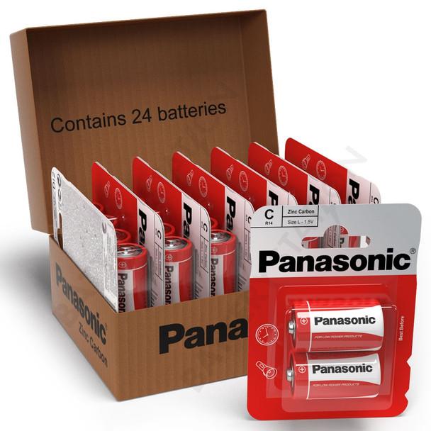 Panasonic Zinc C LR14 Batteries   24 Pack
