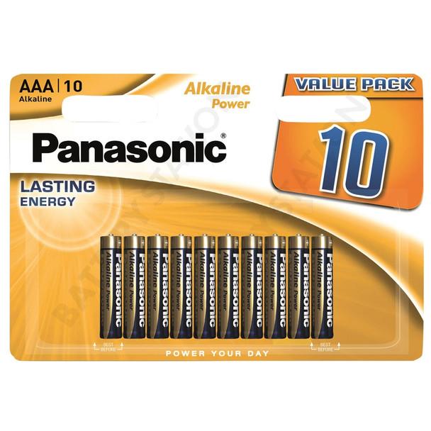 Panasonic Alkaline Power (Bronze) AAA LR03 Batteries | 10 Pack