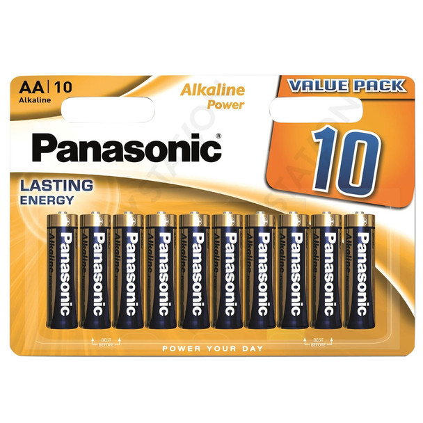 Panasonic Alkaline Power (Bronze) AA LR6 Batteries | 10 Pack