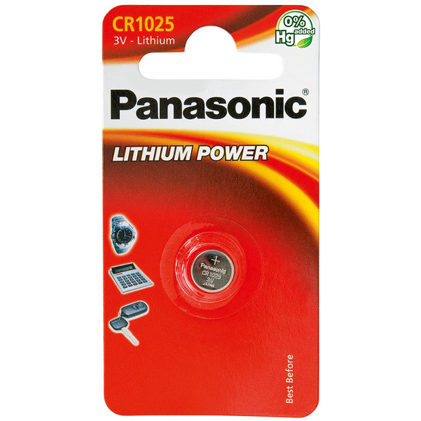Panasonic CR1025 Coin Cell Battery | 1 Pack