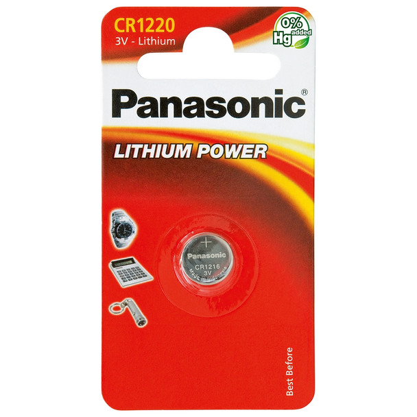 Panasonic CR1220 Coin Cell Battery | 1 Pack