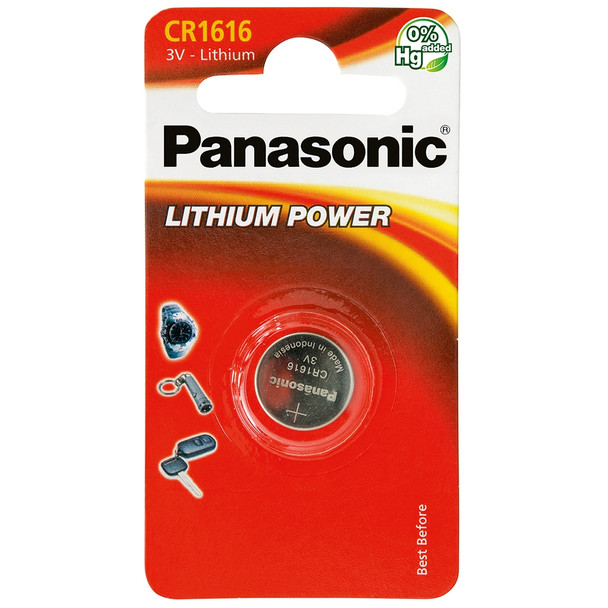 Panasonic CR1616 Coin Cell Battery | 1 Pack