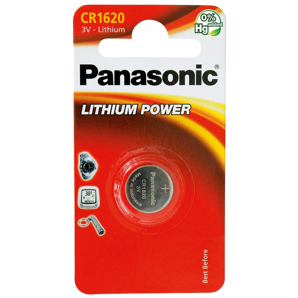Panasonic CR1620 Coin Cell Battery | 1 Pack