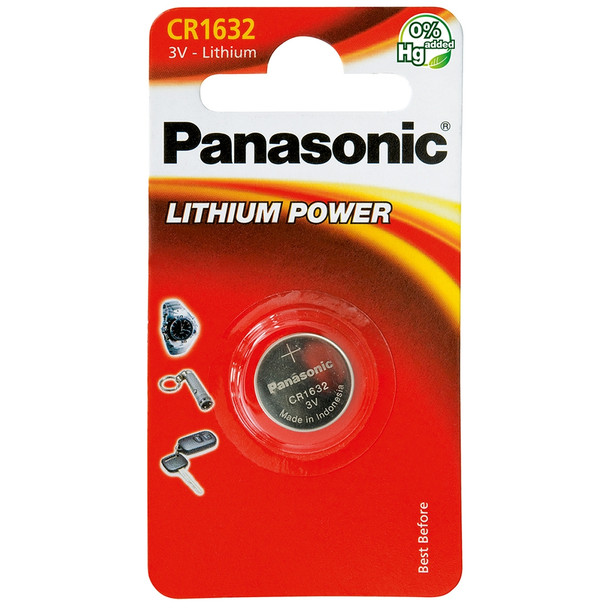 Panasonic CR1632 Coin Cell Battery | 1 Pack