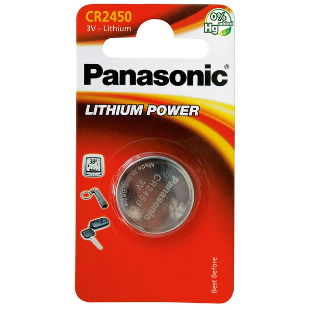Panasonic CR2450 Coin Cell Battery | 1 Pack