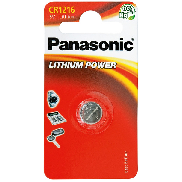 Panasonic CR1216 Coin Cell Battery | 1 Pack