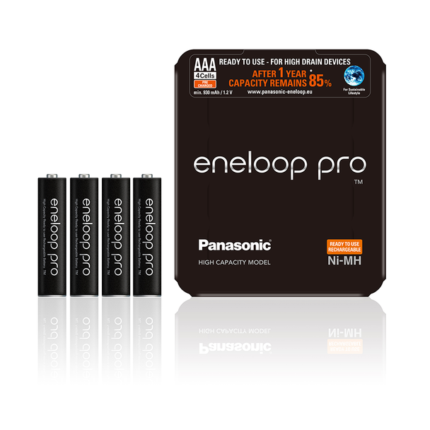 Panasonic Eneloop Pro AAA HR03 930mAh Rechargeable Batteries | 4 Pack