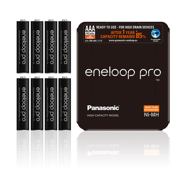 Panasonic Eneloop Pro AAA HR03 930mAh Rechargeable Batteries | 8 Pack
