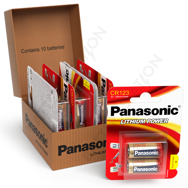 Panasonic CR123A Lithium Battery | 10 Pack