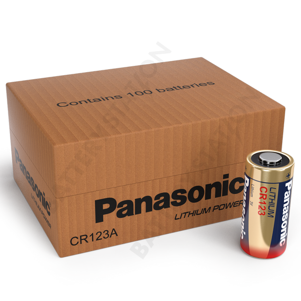 Panasonic CR123A Lithium Battery | 100 Pack