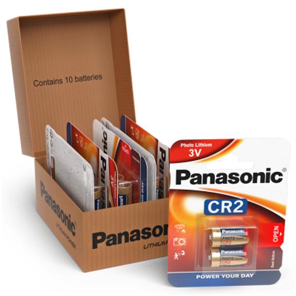 Panasonic CR2 Lithium Photo Battery | 10 Pack