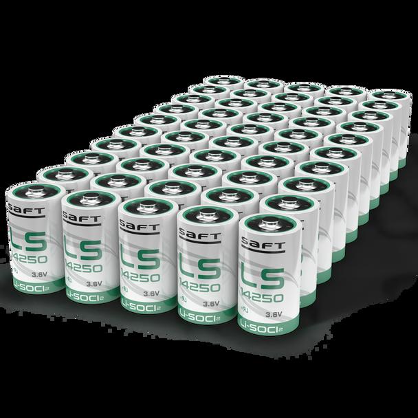 Saft LS14250 Li-SOCI2 3.6V 1/2AA Battery | 50 Pack