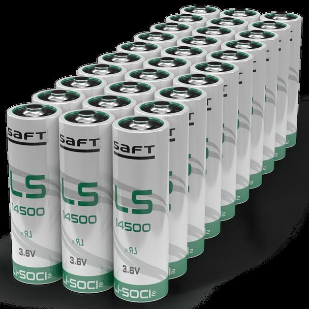 Saft LS14500 Li-SOCI2 3.6V AA Battery | 30 Pack