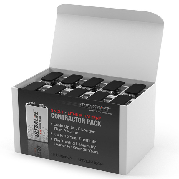 Ultralife 9V Lithium Battery U9VL JP Contractor | 10 Pack