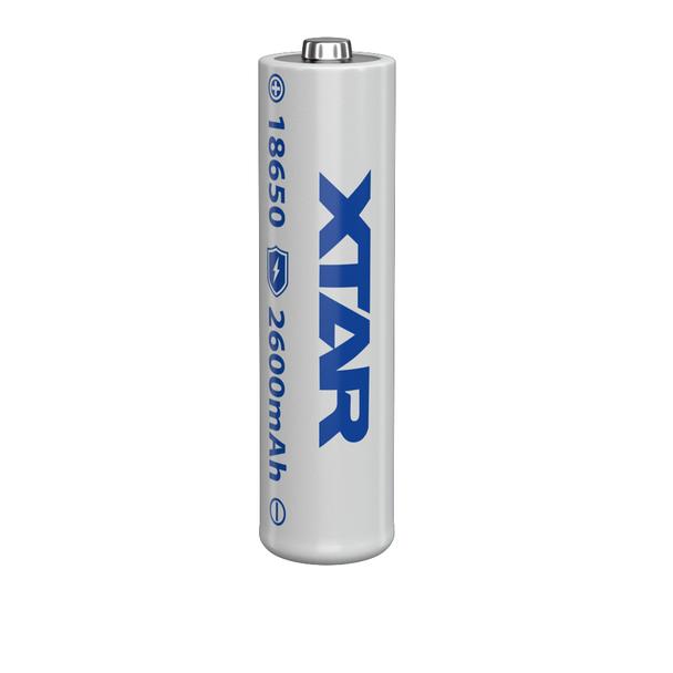 Xtar 18650 3.6V/3.7V LED Flashlight 2600mAh Button-Top Rechargeable Battery