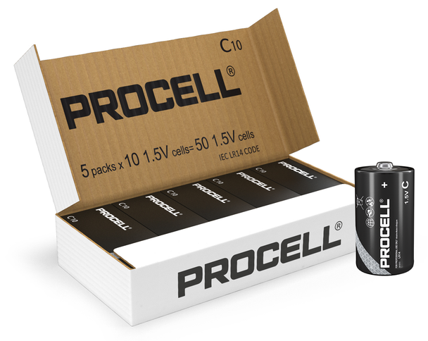 Duracell Procell C LR14 PC1400 Batteries | Box of 50