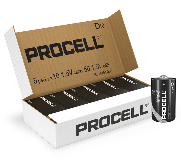 Duracell Procell D LR20 ID1300 Batteries   Box of 50