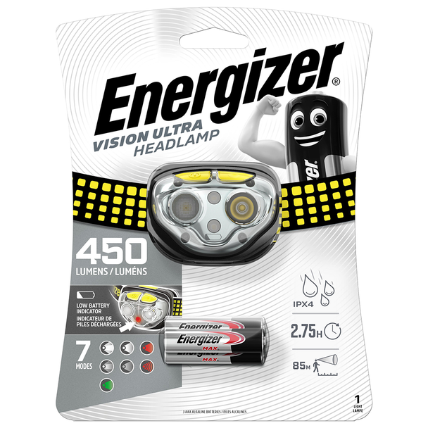 Energizer Vision Ultra LED Headlight | 450 Lumens | Batteries Included