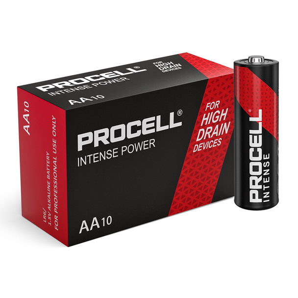 Duracell Procell Intense Power AA LR6 PX1500 Batteries | Box of 10