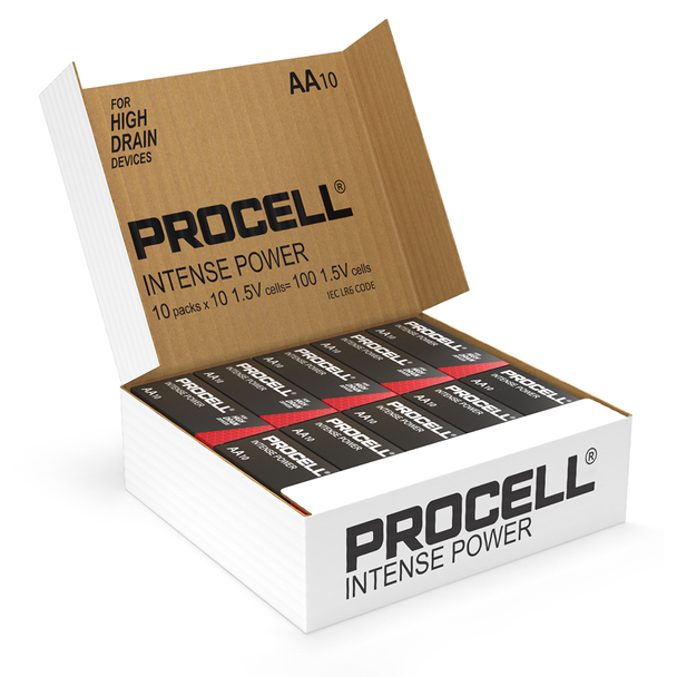 Duracell Procell Intense Power AA LR6 PX1500 Batteries | Box of 100