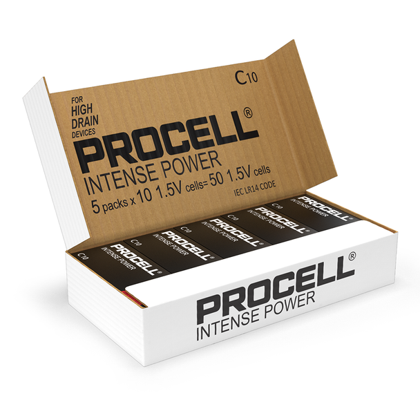 Duracell Procell Intense Power C LR14 PX1400 Batteries | Box of 50