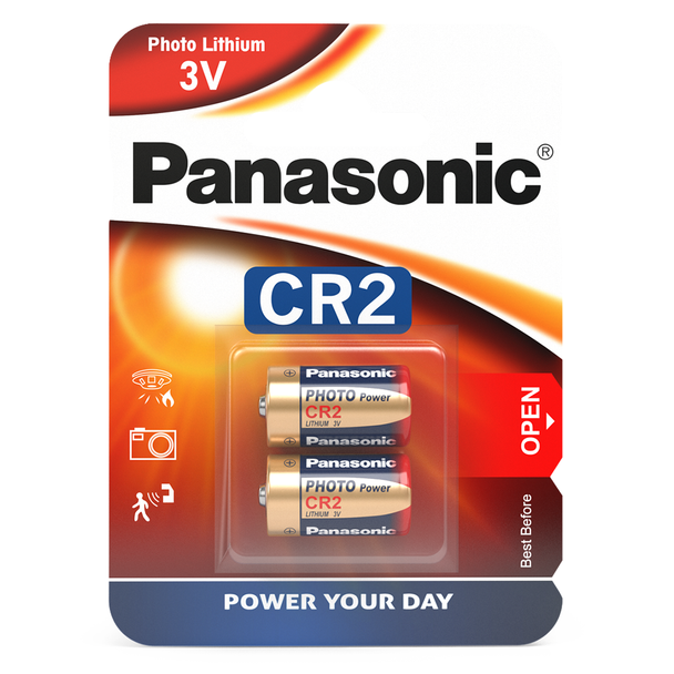 Panasonic CR2 Lithium Photo Battery | 2 Pack