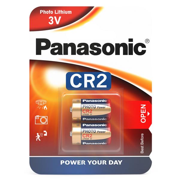 Panasonic CR2 Lithium Photo Battery | 2 Pack