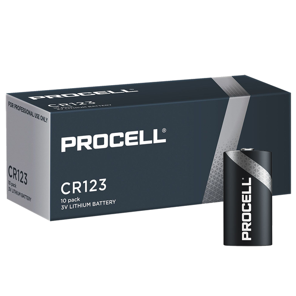 Duracell Procell CR123A Batteries   Box of 10