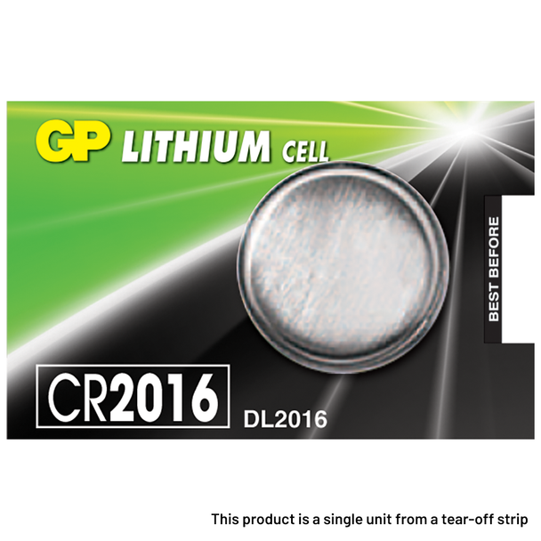 GP CR2016 Coin Cell Batteries   1 Pack
