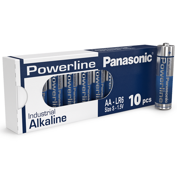 Panasonic Powerline AA LR6AD Industrial Batteries | Box of 10