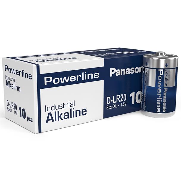 Panasonic Powerline D LR20AD Industrial Batteries | Box of 10