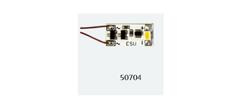 "ESU 50704LED lighting strip, cabin, 1 LED, ""warm-white"", 15,0mm x 6,9mm x 2,3 mm"