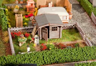 FALLER 180492 Allotments with small garden house (HO)