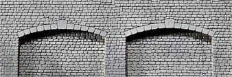 FALLER  170835 Decorative sheet archway, Natural cut stone (HO)