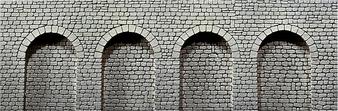 FALLER  170838 Decorative sheet arcades , Natural stone ashlars (HO)