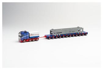 HERPA 312158 Volvo FH 16 Gl. Flatbed train with makeshift bridge HO)