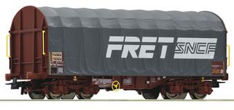 ROCO 76443 - Sliding tarpaulin wagon, FRET, SNCF (DC HO)
