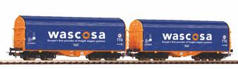 PIKO 58396 Set of 2 sliding tarpaulin wagons SBB Wascosa VI (DC HO)