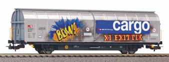 PIKO 58985 SBB large sliding wall wagon with graffiti VI (DC HO)