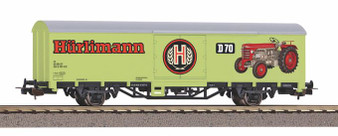 """PIKO 58799 Covered freight car """"Hürlimann Tractors"""" SBB VI(DC HO)"""