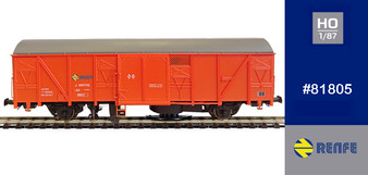 MABAR 81805 RENFE TALLER CLEAN TRACK WAGON(DC HO)