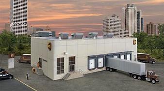 WALTHERS 534110 UPS Hub with customer center (HO)