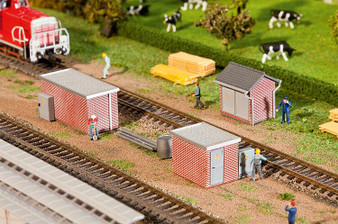 FALLER 120239 3 Brick Transformer stations (HO)