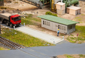 FALLER 130172 Truck scale with office (HO)